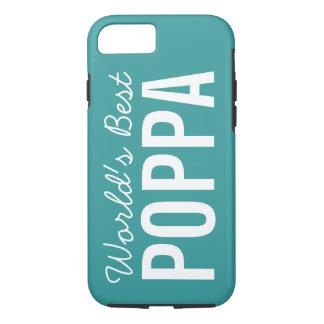 ティール(緑がかった色)の世界で最も最高のなPoppaのカスタムなiPhone 7の場合 iPhone 8/7ケース
