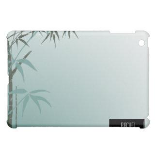 ティール(緑がかった色)の勾配の自然なタケiPad iPad Miniケース