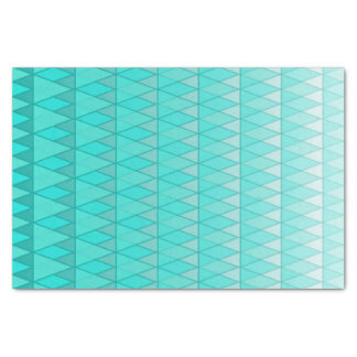 ティール(緑がかった色)の勾配の衰退の三角形のプリント 薄葉紙