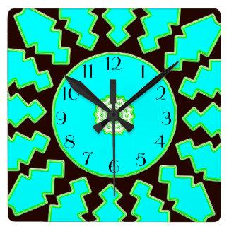 ティール(緑がかった色)の夢 スクエア壁時計