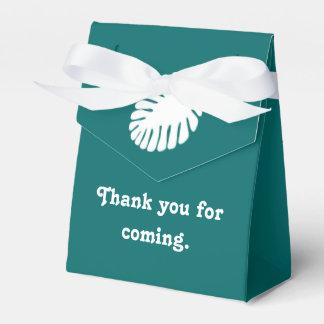 ティール(緑がかった色)の好意箱の熱帯ハイビスカス フェイバーボックス
