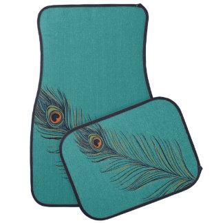 ティール(緑がかった色)の孔雀の羽 カーマット