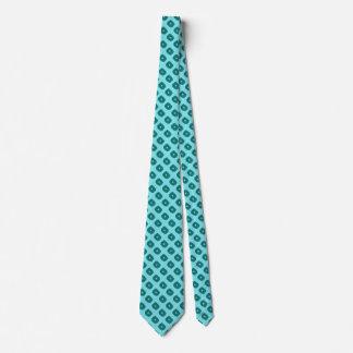 ティール(緑がかった色)の抽象的な正方形のネクタイ ネクタイ