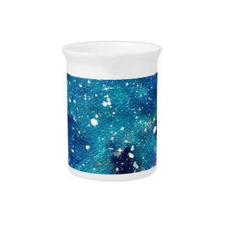 ティール(緑がかった色)の星雲および星 ピッチャー