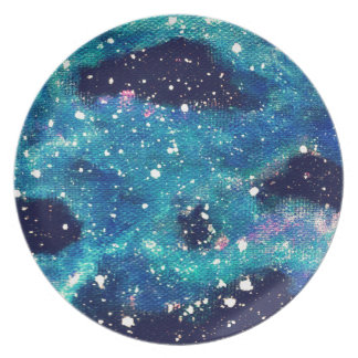 ティール(緑がかった色)の星雲および星 プレート