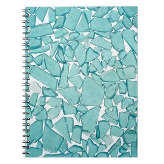 ティール(緑がかった色)の海のガラス航海のなプリント ノートブック