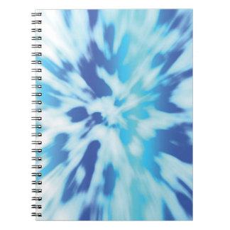 ティール(緑がかった色)の海TyeDye -ファッションのノート ノートブック
