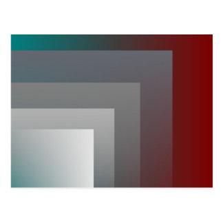 ティール(緑がかった色)の灰色バーガンディ ポストカード