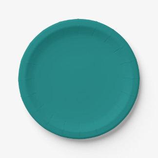 ティール(緑がかった色)の緑のプレート ペーパープレート