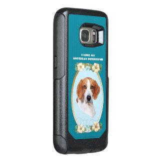ティール(緑がかった色)の花柄のアメリカFoxhound オッターボックスSamsung Galaxy S7ケース