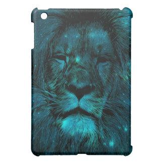 ティール(緑がかった色)の銀河系のライオン iPad MINI カバー