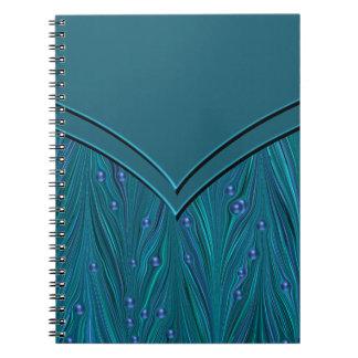 ティール(緑がかった色)の青い螺線形ノート ノートブック