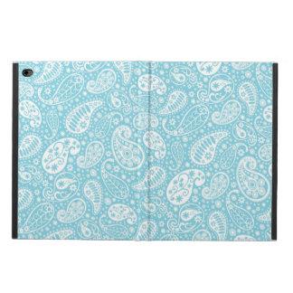 ティール(緑がかった色)の青のレトロのペイズリー POWIS iPad AIR 2 ケース