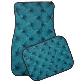 ティール(緑がかった色)の青のcapitoneのカーマットのフルセットのプリント カーマット