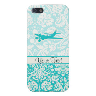 ティール(緑がかった色)の飛行機 iPhone 5 ケース