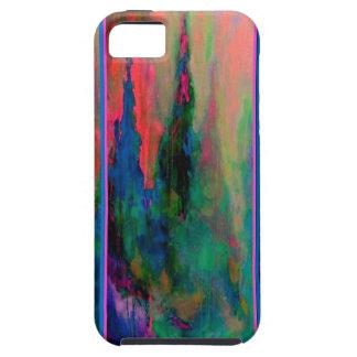 ティール(緑がかった色)サケの森林カテドラルの尖塔のギフトSharles iPhone SE/5/5s ケース