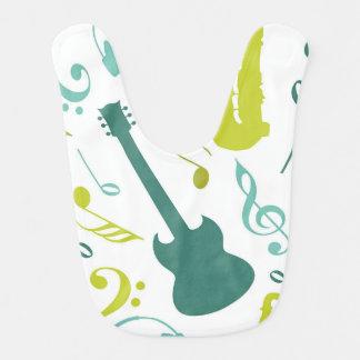 ティール(緑がかった色)及び緑のジャズ音楽のデザイン ベビービブ