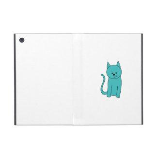 ティール(緑がかった色)猫 iPad MINI ケース