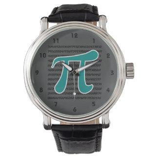 ティール(緑がかった色)緑Piの記号 腕時計