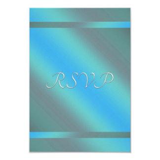 ティール(緑がかった色)青いRSVP カード