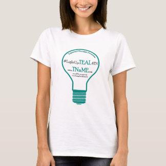 ティール(緑がかった色) 4のTrigeminal神経痛のTシャツをつけて下さい Tシャツ
