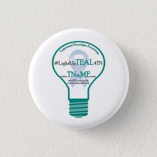 ティール(緑がかった色) 4のTrigeminal神経痛ボタンをつけて下さい 3.2cm 丸型バッジ