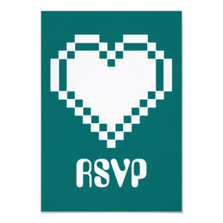 ティール(緑がかった色) RSVPカードの複数競技者用モード カード