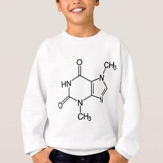 テオブロミンチョコレート分子の化学薬品の図表 スウェットシャツ