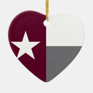 テキサス州のあずき色の旗 セラミックオーナメント