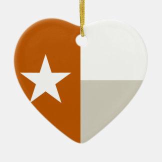 テキサス州のオレンジ旗 セラミックオーナメント