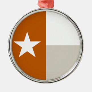 テキサス州のオレンジ旗 メタルオーナメント