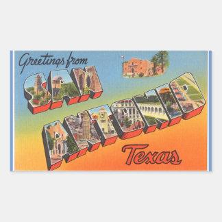 テキサス州のサン・アントニオの4つのステッカーのシート 長方形シール