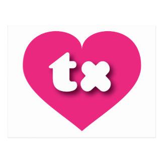 テキサス州のショッキングピンクのハート-小型愛 ポストカード
