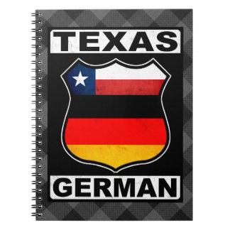 テキサス州のドイツのアメリカのメモ帳 ノートブック