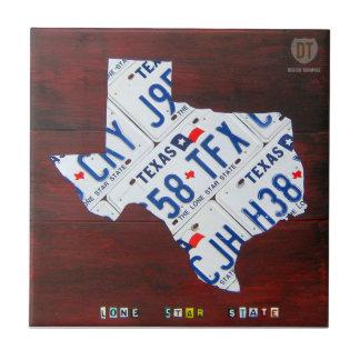 テキサス州のナンバープレートの地図のセラミックタイル タイル