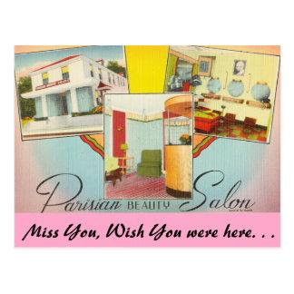 テキサス州のパリの美容院 ポストカード