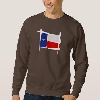 テキサス州のブラシの旗 スウェットシャツ