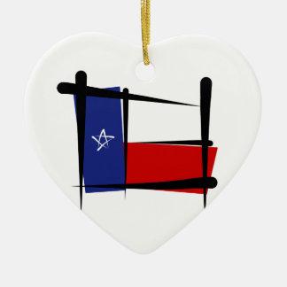 テキサス州のブラシの旗 セラミックオーナメント