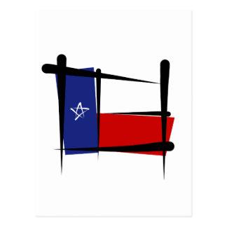 テキサス州のブラシの旗 ポストカード