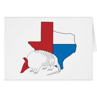 テキサス州のプライドのアルマジロ カード