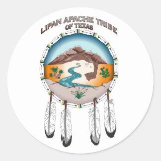 テキサス州のペーパーステッカーのLipanアパッシュの種族 ラウンドシール