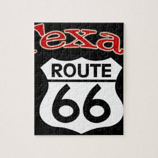テキサス州のルート66の盾 ジグソーパズル