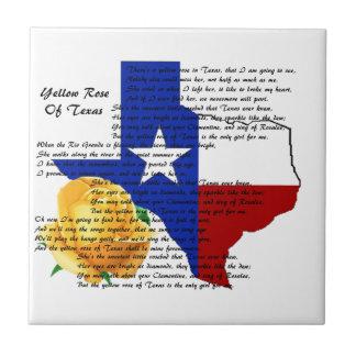 テキサス州の内戦の歌の黄色バラ タイル