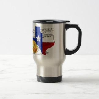テキサス州の内戦の歌の黄色バラ トラベルマグ