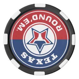 テキサス州の円形のthem®のチップセット ポーカーチップ