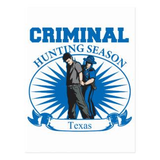 テキサス州の刑事狩猟期 ポストカード