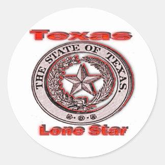 テキサス州の単独星の州のシール ラウンドシール