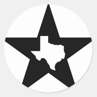 テキサス州の単独星の州米国のカスタムインク ラウンドシール