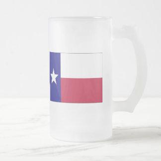 テキサス州の単独星の旗 フロストグラスビールジョッキ