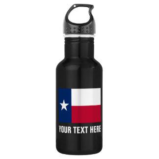 テキサス州の名前入りな旗の鋼鉄水差し ウォーターボトル